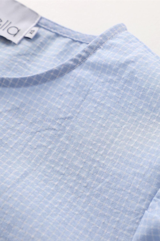 Noella Taven kjole, blue/white checks, x-small