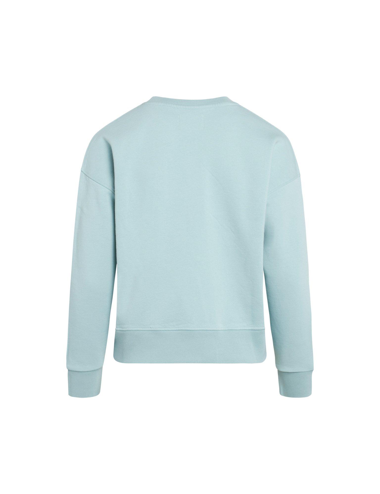 Mads Nørgaard Organic Tilvina P sweatshirt, aqua, x-small