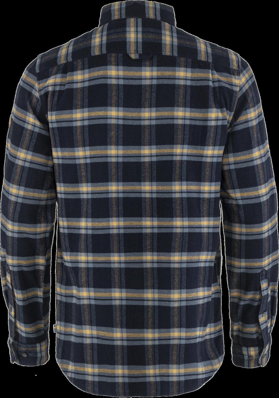 Fjällräven Övik Heavy Flannel Skjorte, Dark Navy - Buckwheat Brown, M