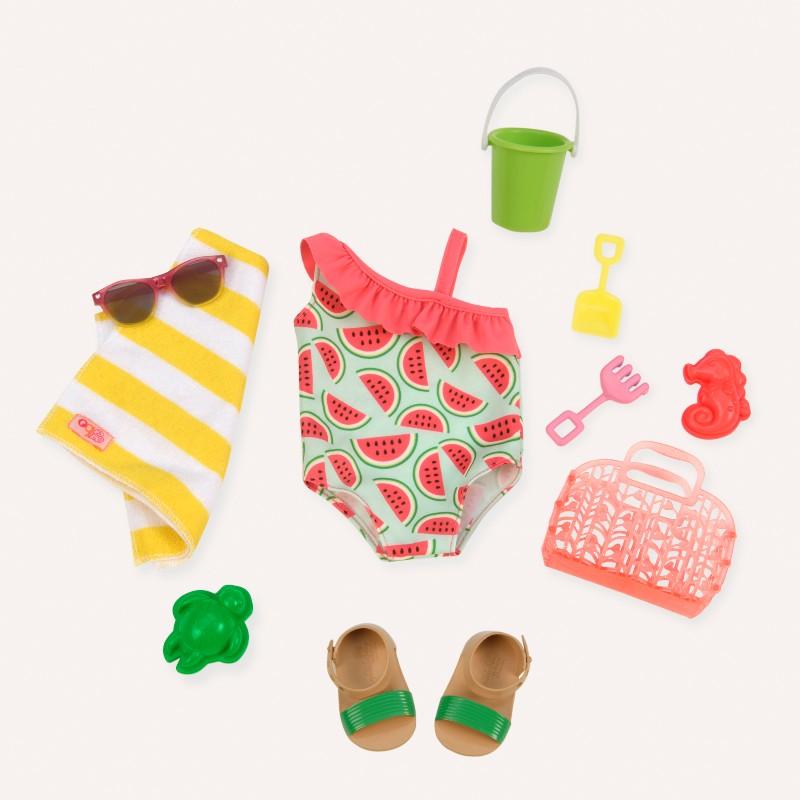 Our Generation dukketøj, badedragt m. vandmelon