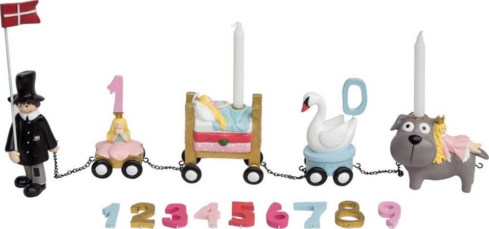Kids by Friis fødselsdagstog, H.C. Andersen, lyserød