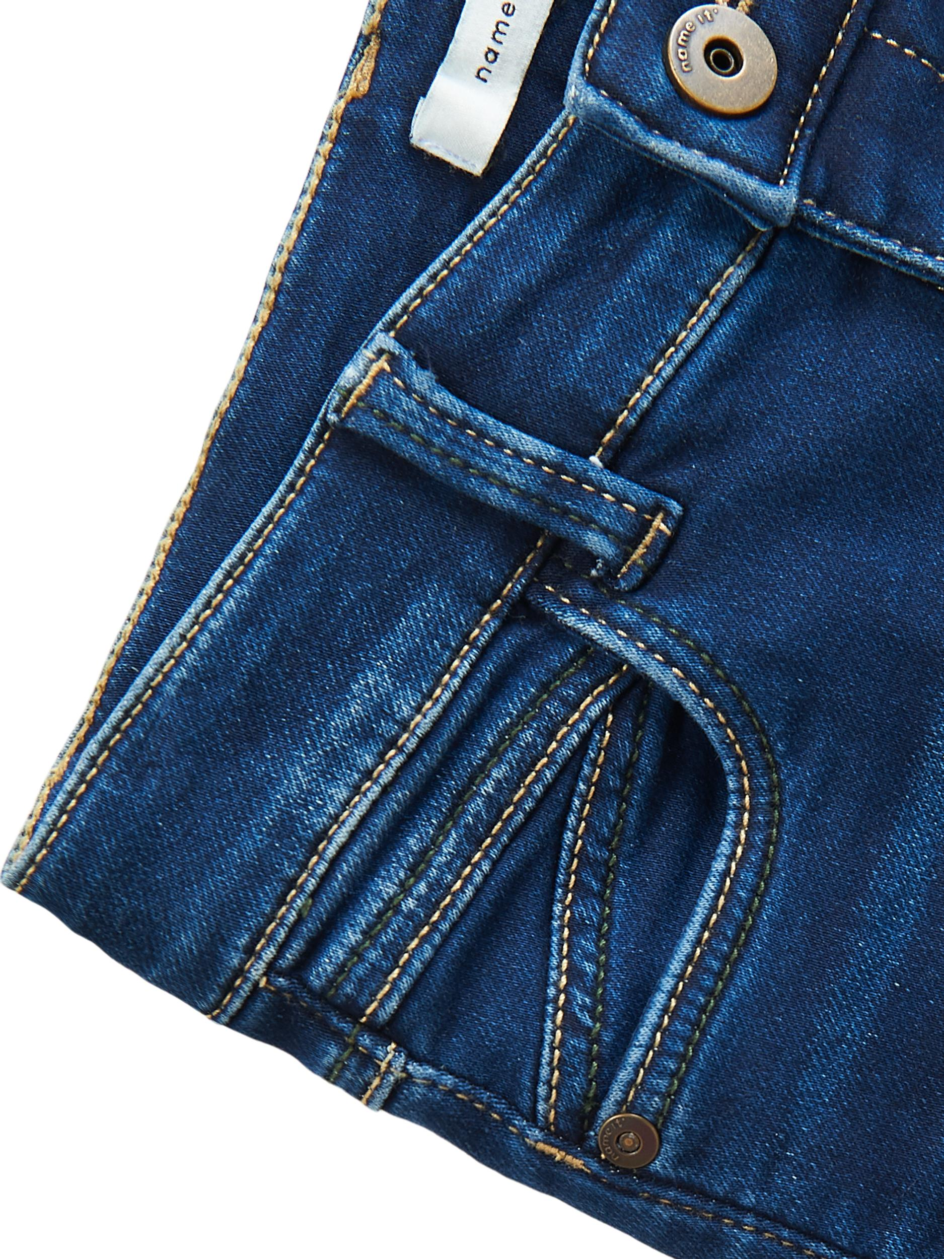 Name It Theo X-slim bukser, dark blue denim, 146