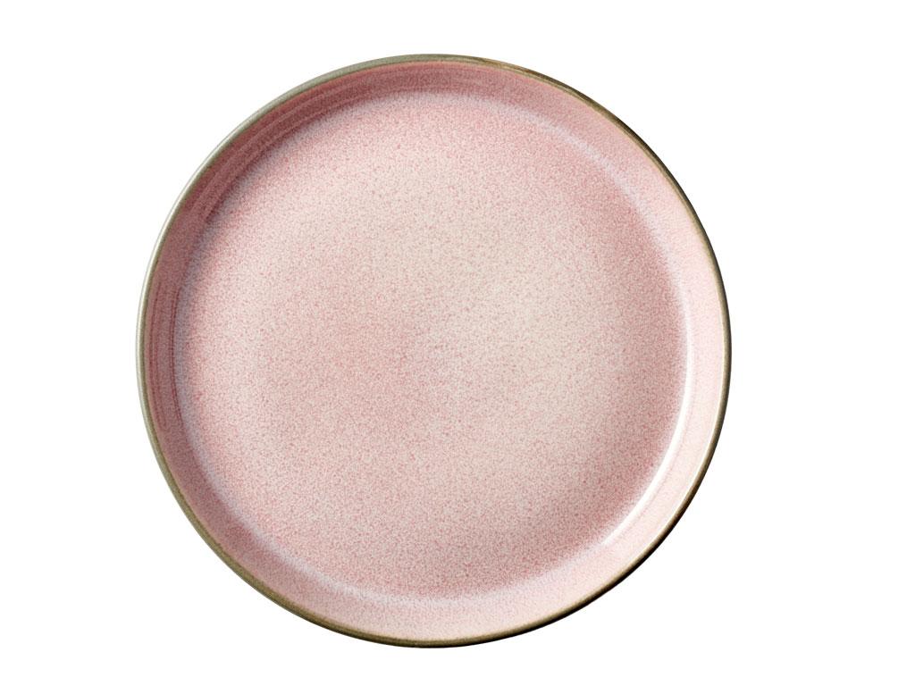 Bitz Gastro tallerken, Ø17 cm, grå/lyserød