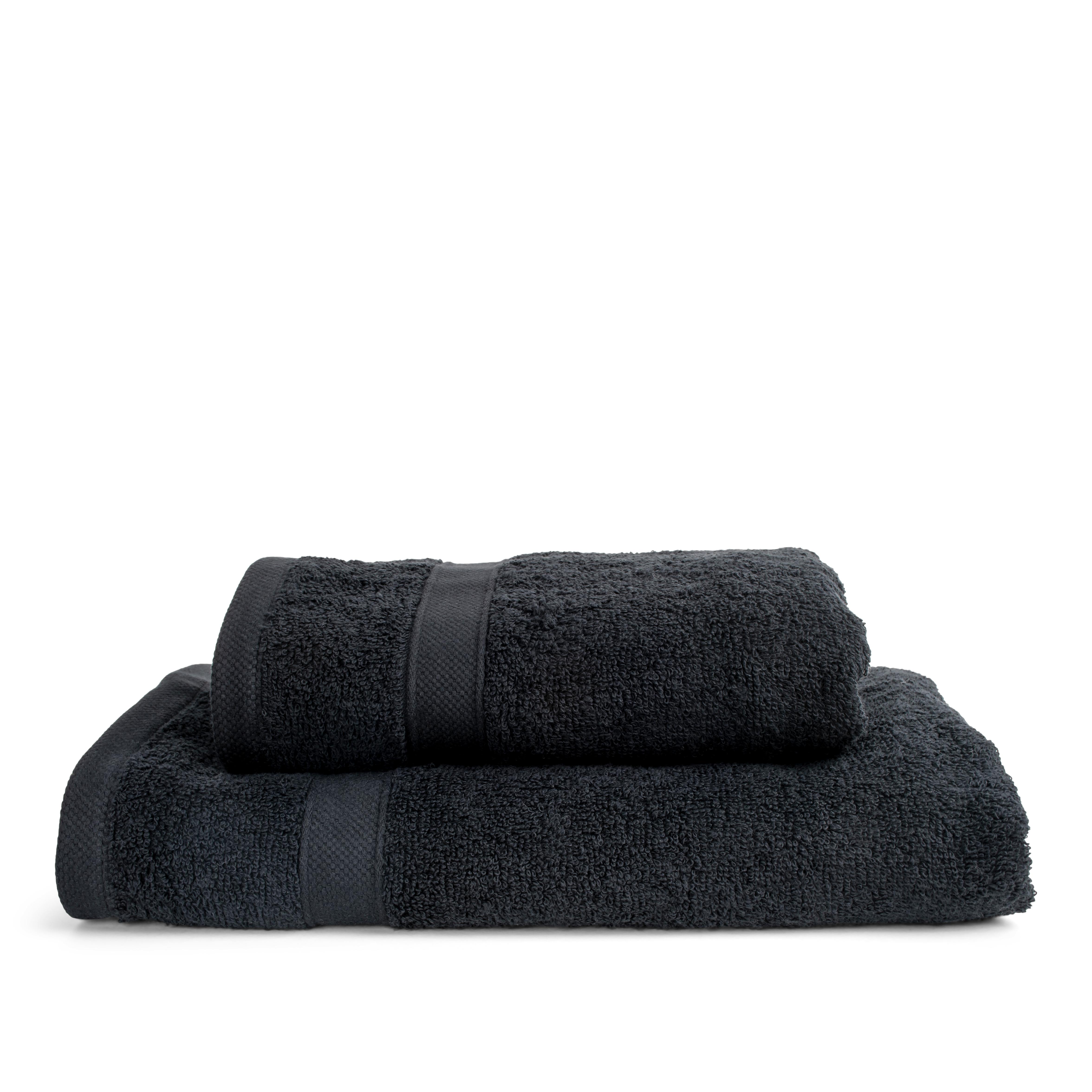 Nordstrand Basic Uno håndklæde, 70x140 cm, sort