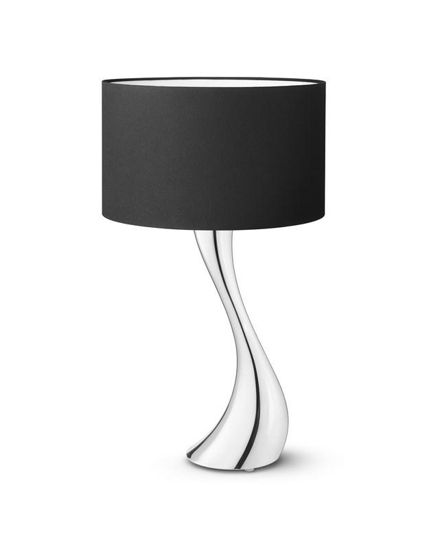 Georg Jensen Cobra bordlampe, lille, sort skærm