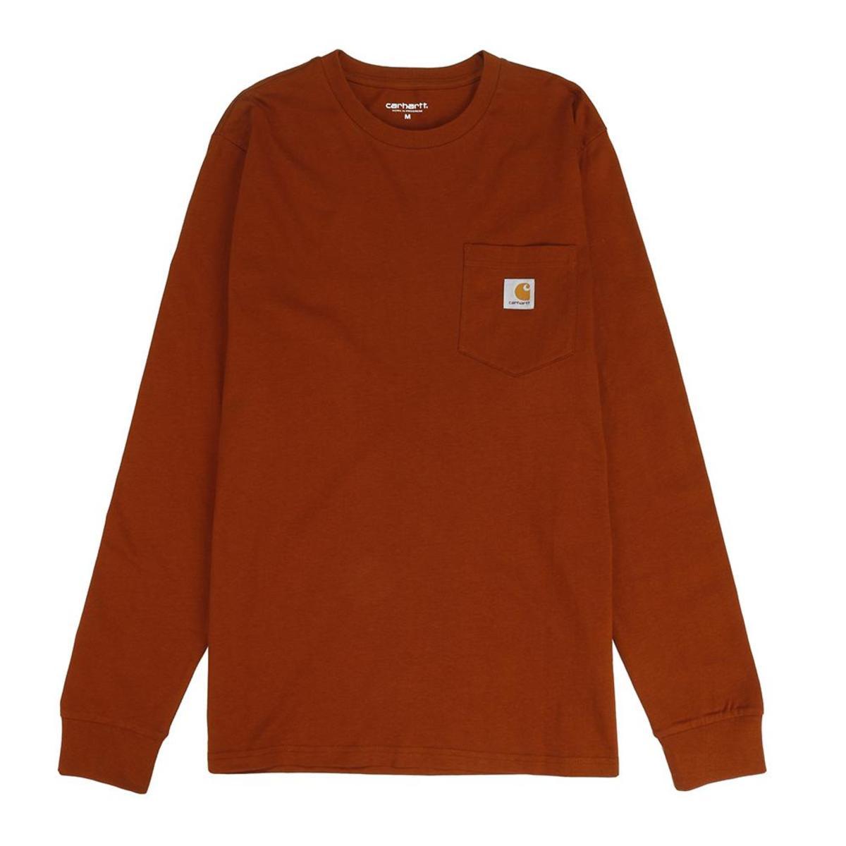 Carhartt L/S Pocket t-shirt, brandy, x-small