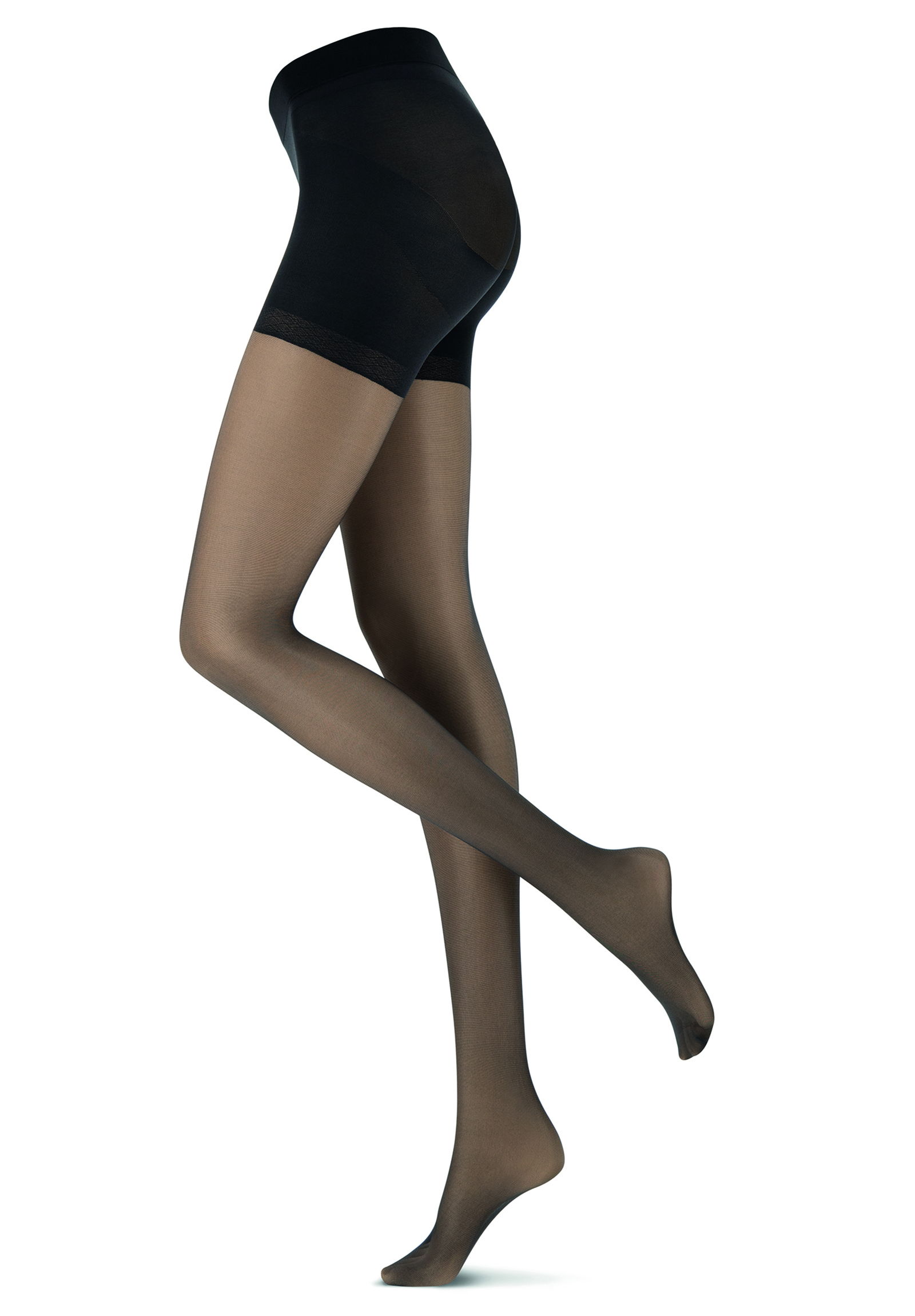 Oroblu Shock Up Light 20 tights, black, large