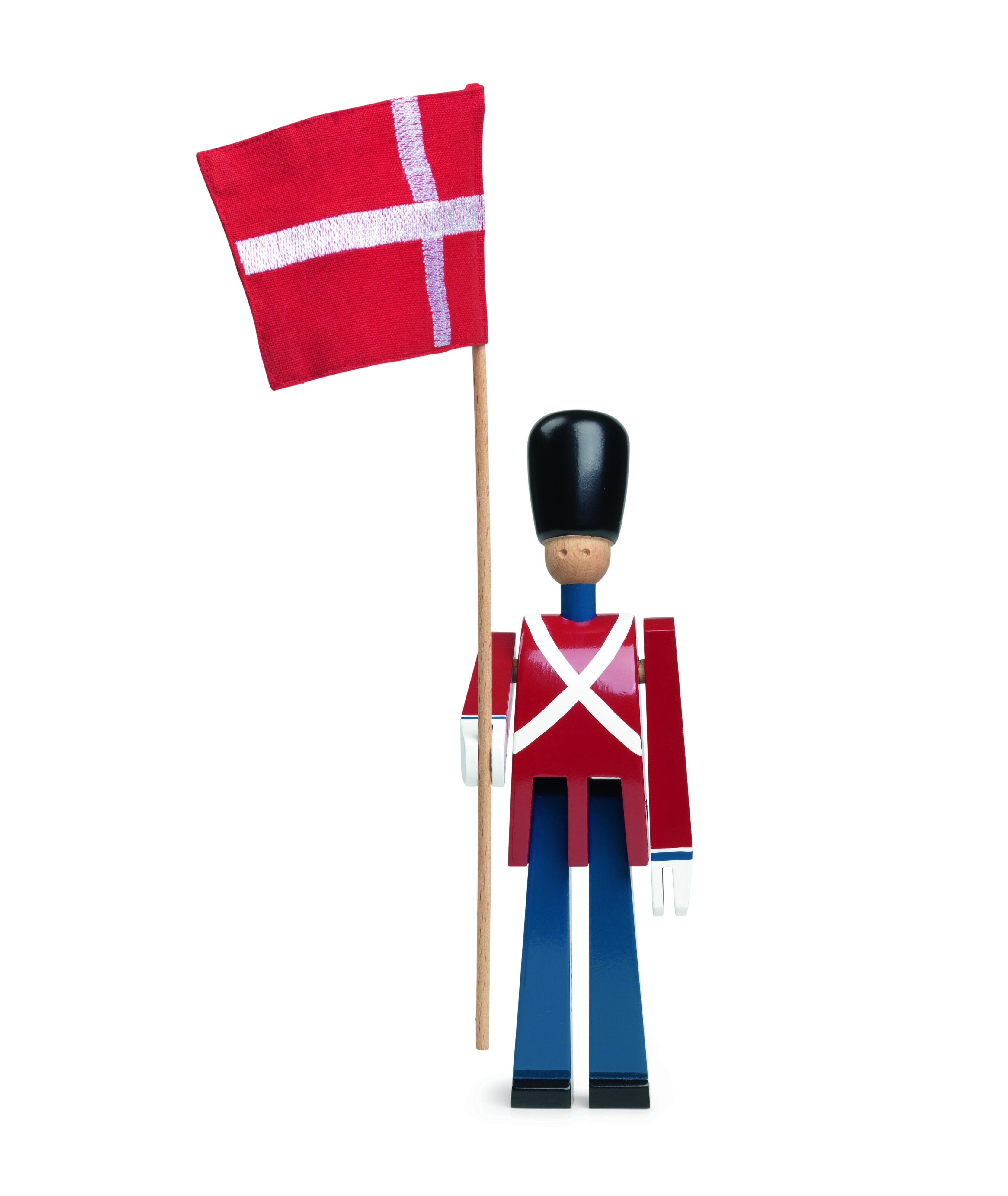 Kay Bojesen fanebærer med flag, lille