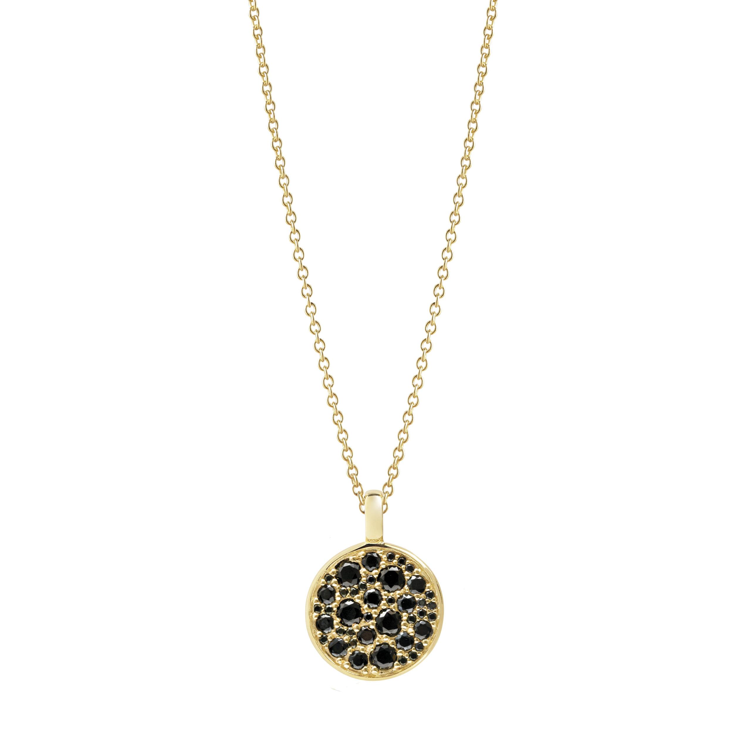 Sif Jakobs Jewellery Novara halskæde, guld/sort, 60