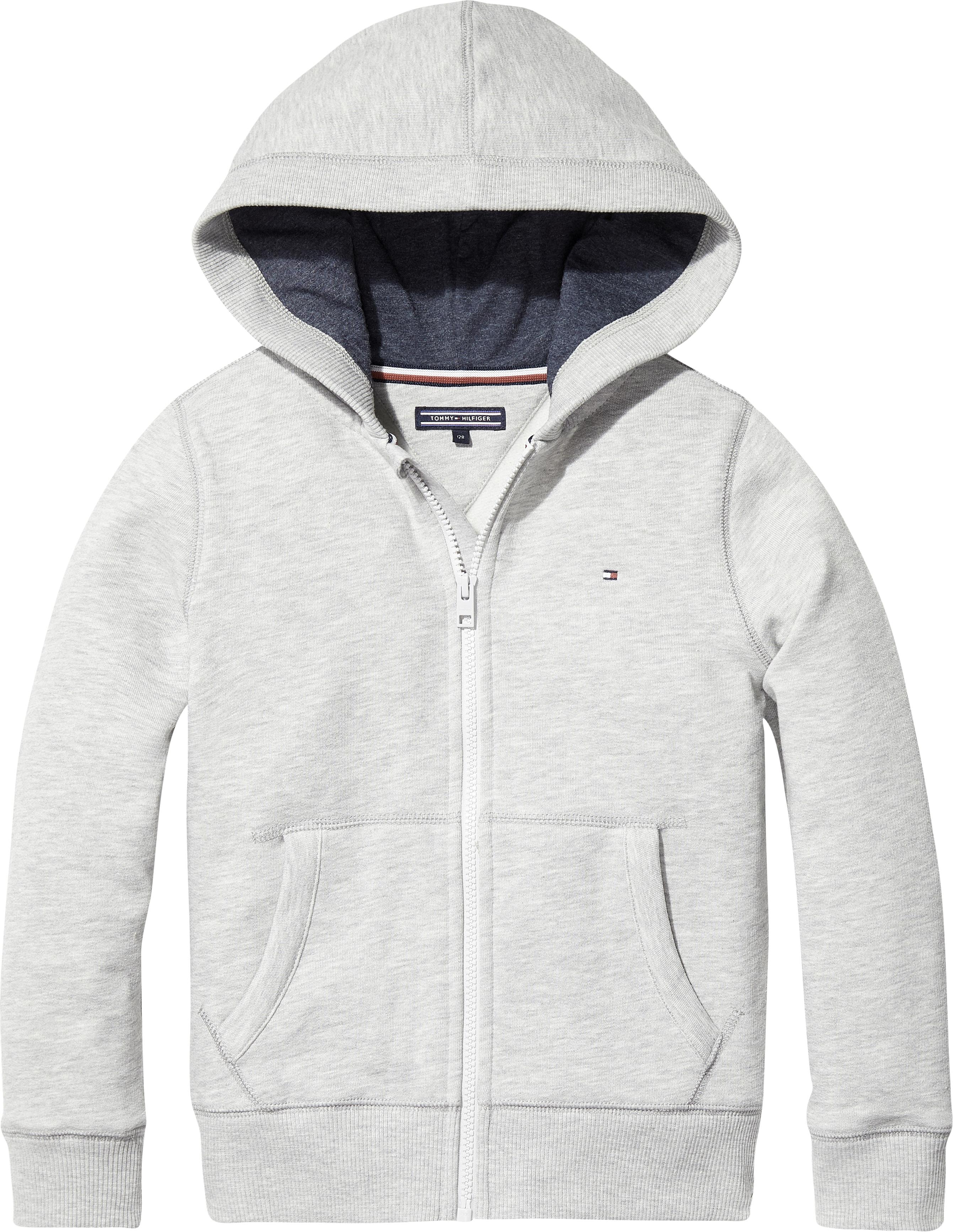 Tommy Hilfiger Basic zip hoodie, grå, 10 år