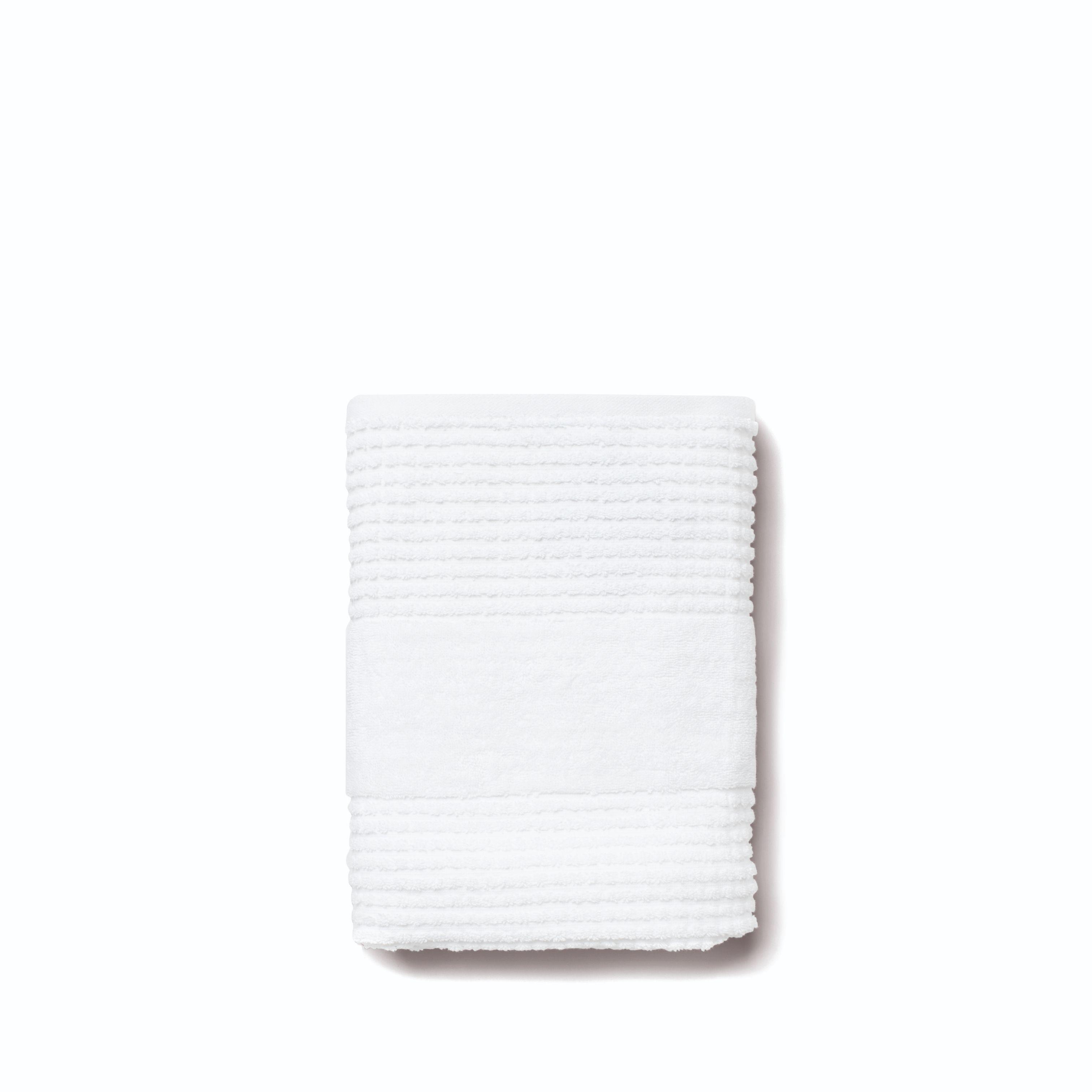 Juna Check håndklæde, 50x100 cm, hvid