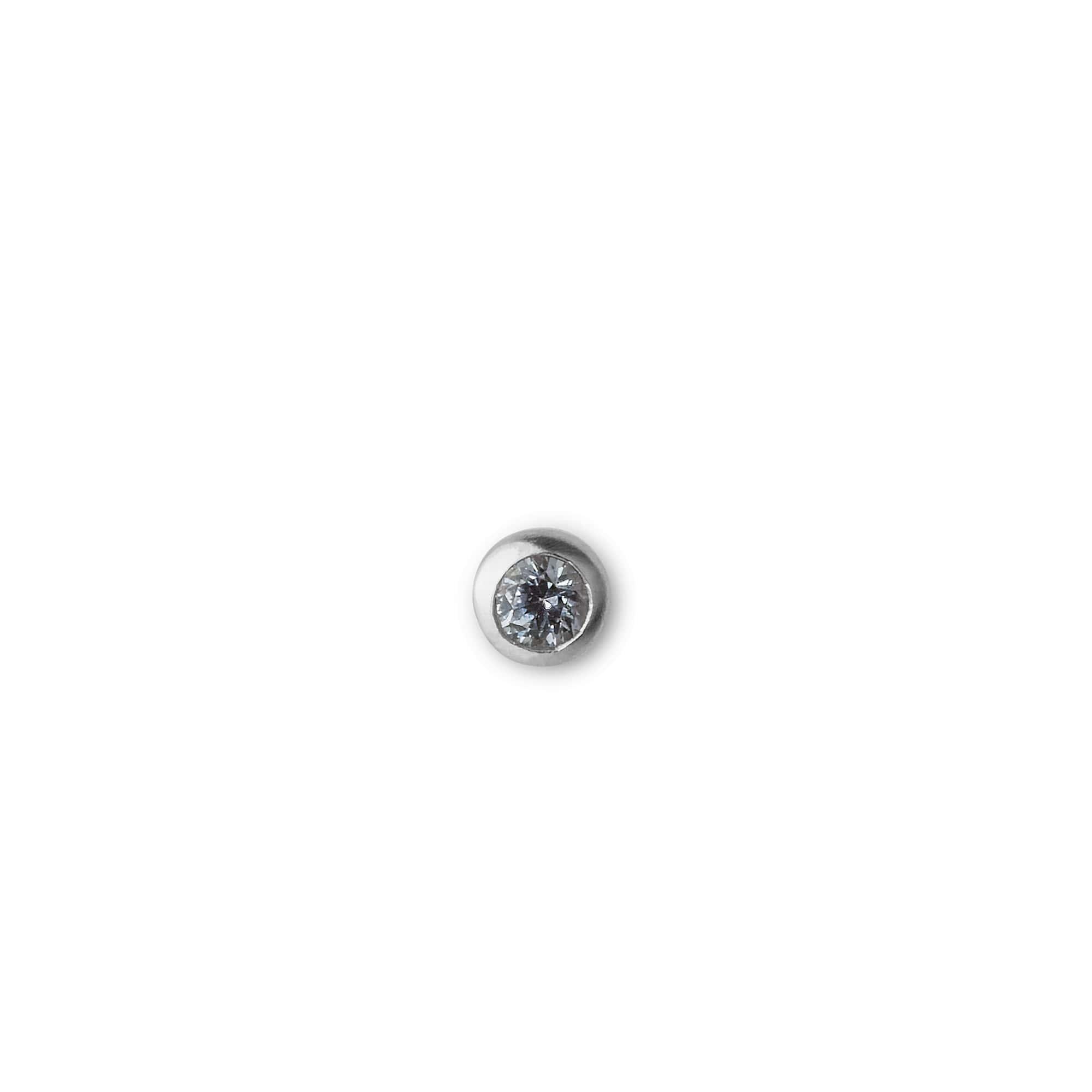 Jane Kønig sapphire ørering, sølv