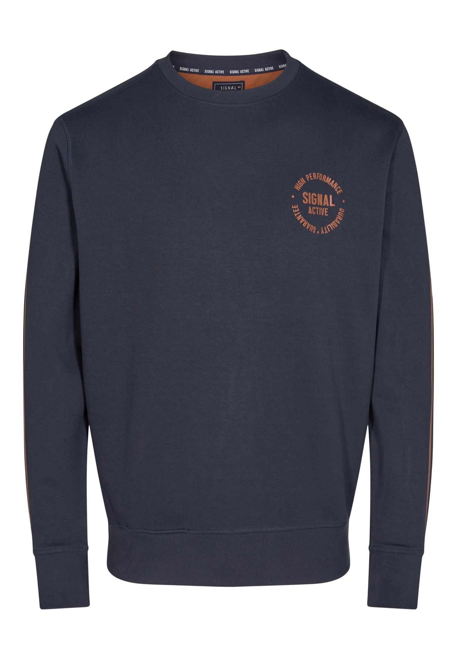 Signal Bolt Crew Sweatshirt, Deep Marine, L