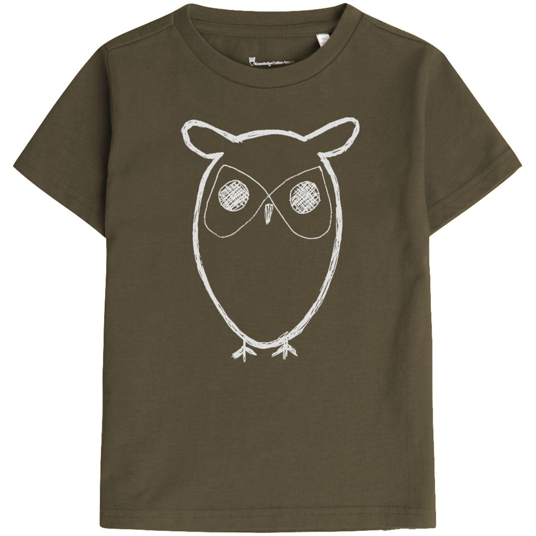 KnowledgeCottonApparel owl t-shirt, forrest night, 98-104