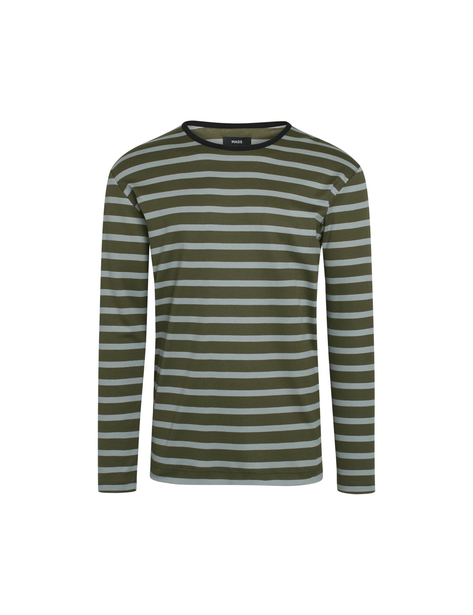 Mads Nørgaard Tobias LS t-shirt, oliven, large