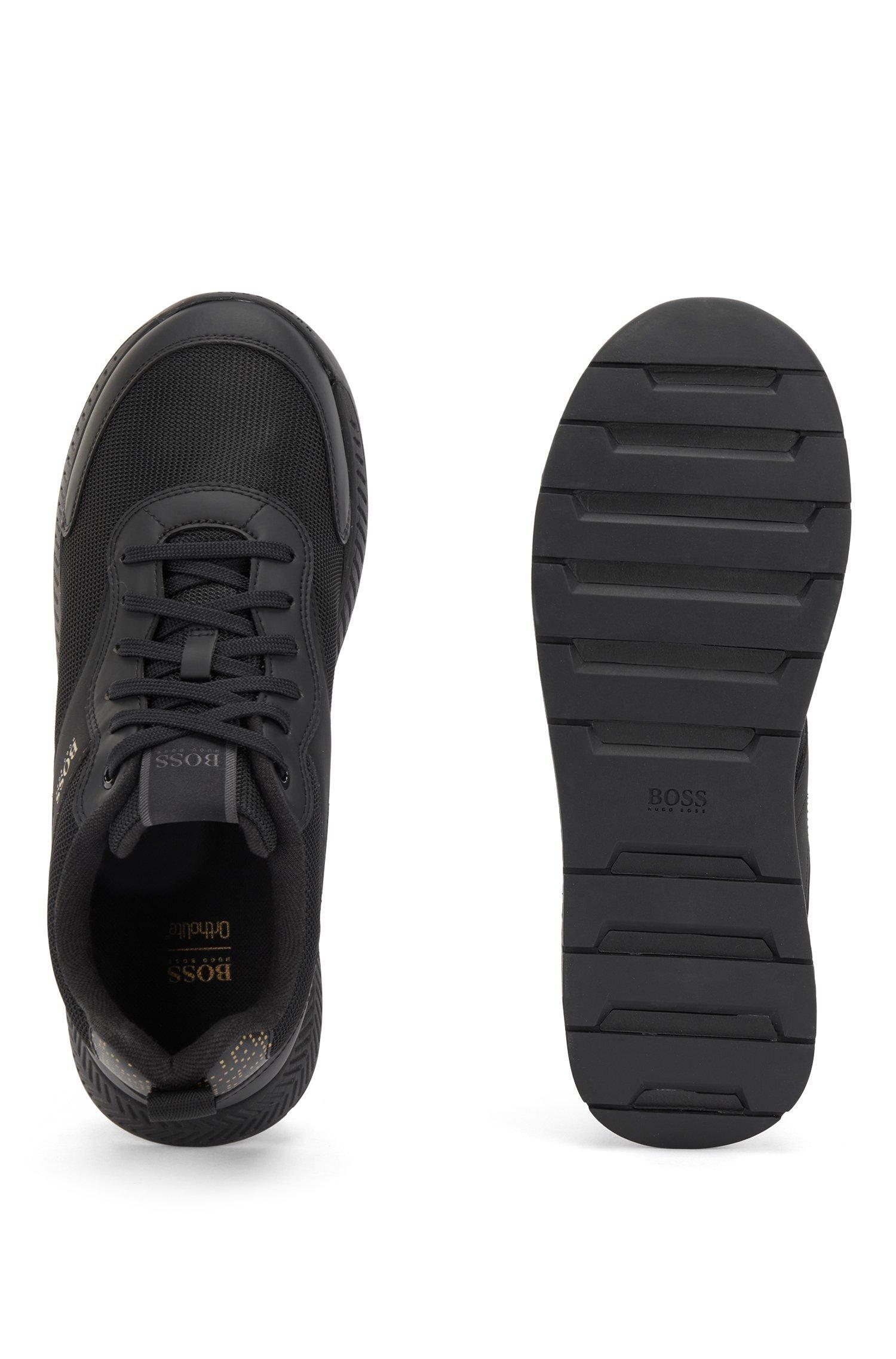 Hugo Boss Pixel-print sneakers, sort, 46
