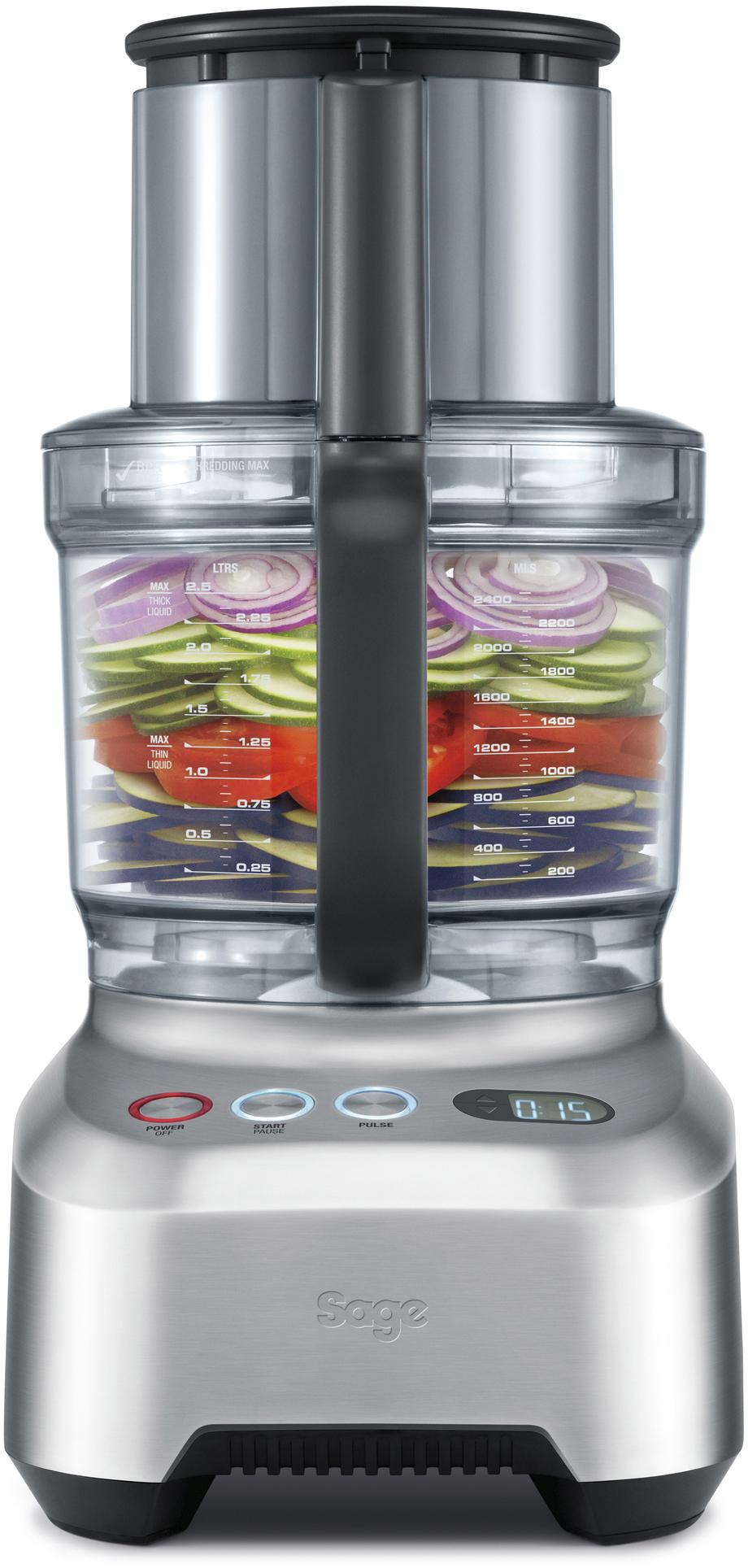 Sage The Kitchen Wizz 15 Pro foodprocessor, børstet stål