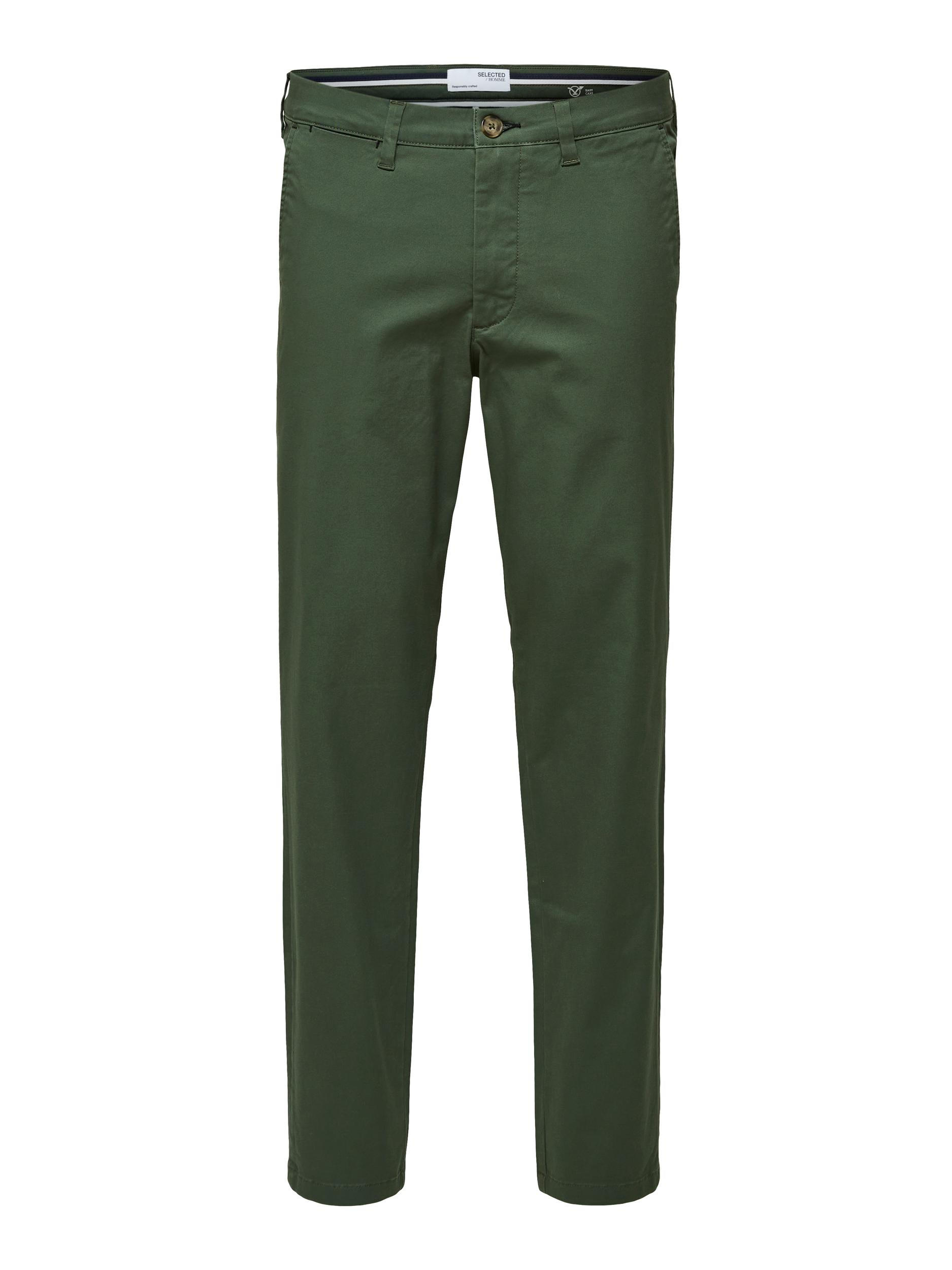 Selected Homme Miles Slim Flex chinos, bronze green, 30/32