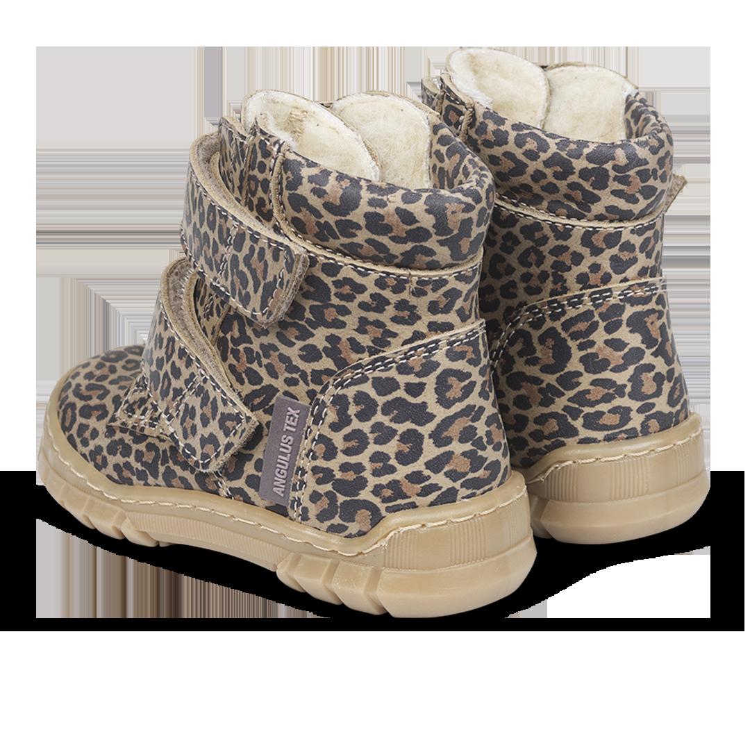 Angulus TEX støvle med gummisål, leopard, 23
