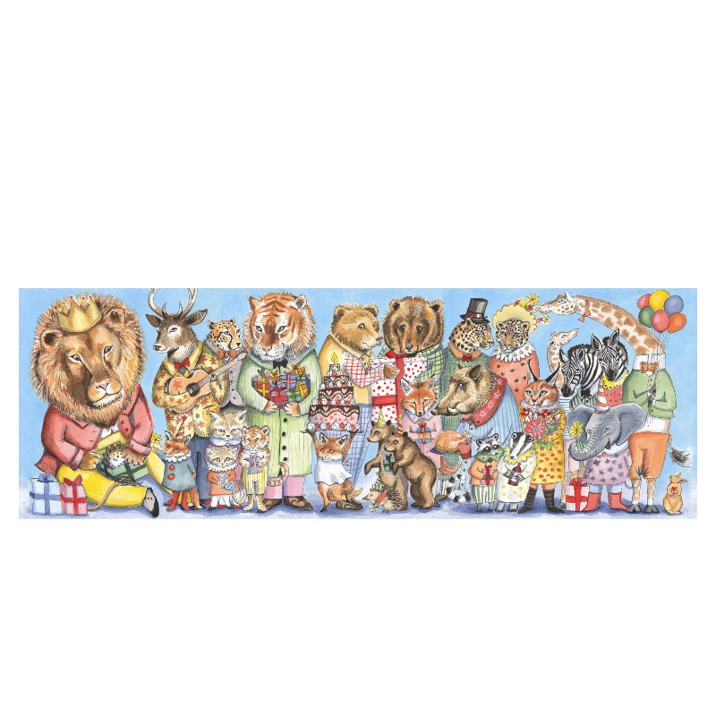 Djeco Galleripuslespil, løvens fest, 100 brikker