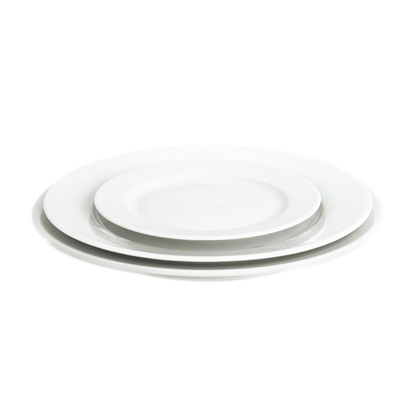 Pillivuyt Sancerre frokosttallerken, Ø22 cm, hvid