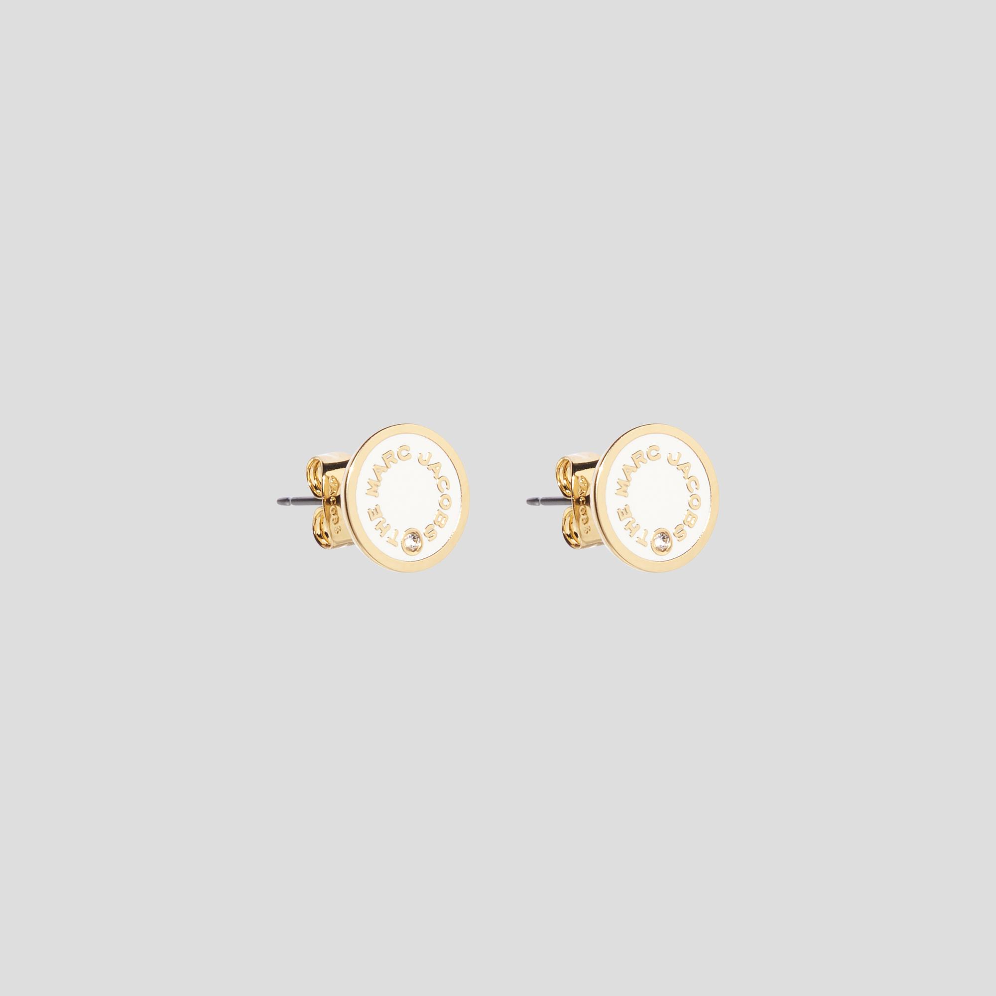Marc Jacobs The Medallion Studs øreringe, cream