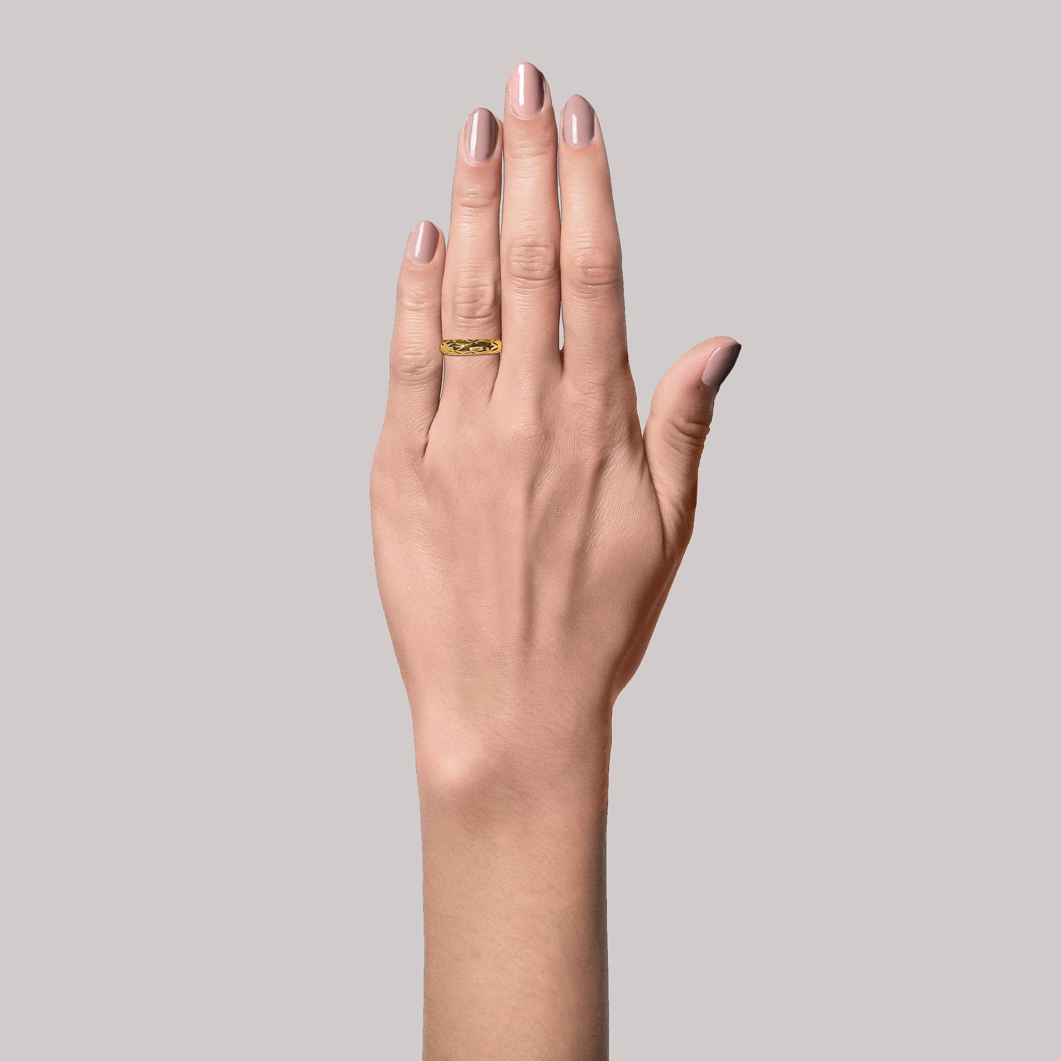 Jane Kønig Big Impression ring, guld, 54
