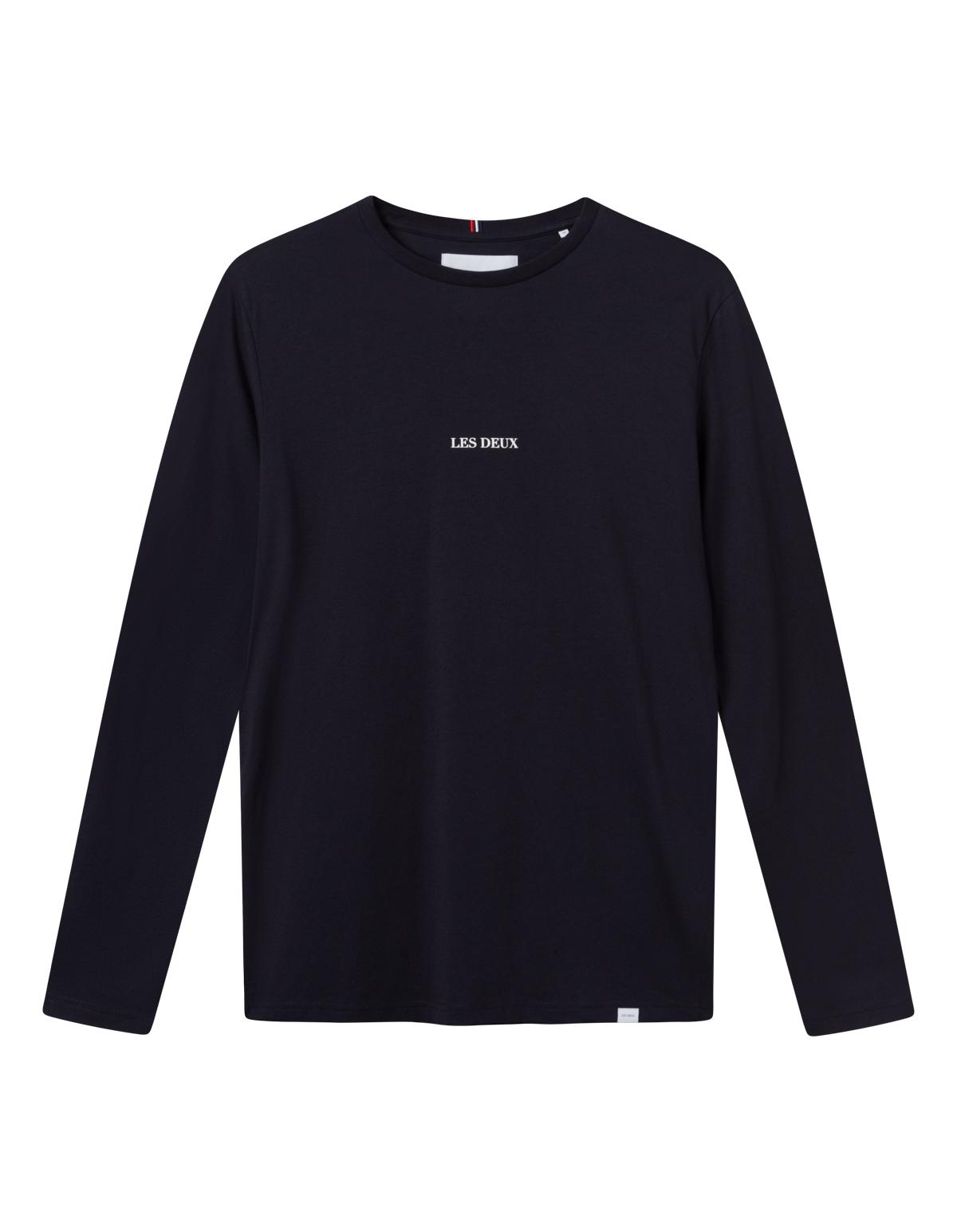 Les Deux Lens LS t-shirt, dark navy/white, xx-large