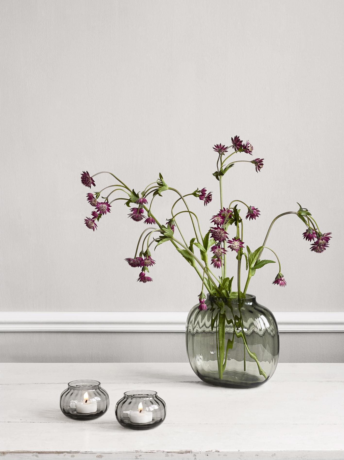 Holmegaard Primula fyrfadsstage, Ø9,5 cm, clear