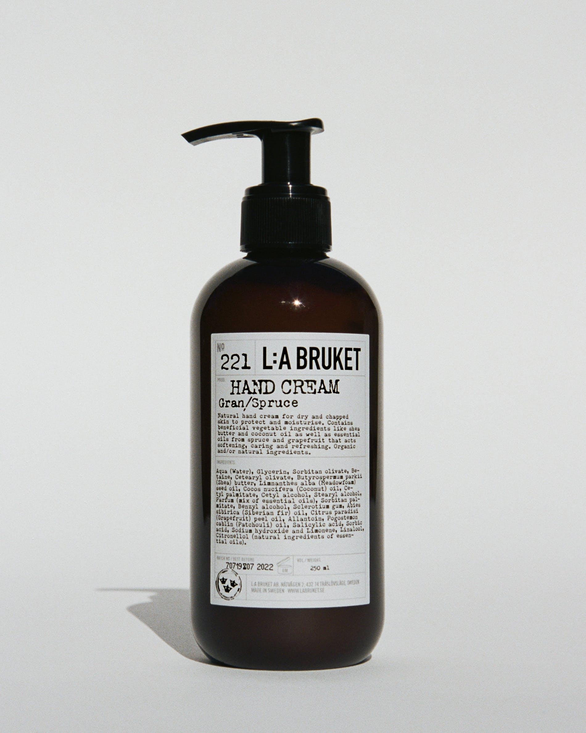 L:a Bruket No. 221 håndcreme, 240 ml, Gran/Spruce