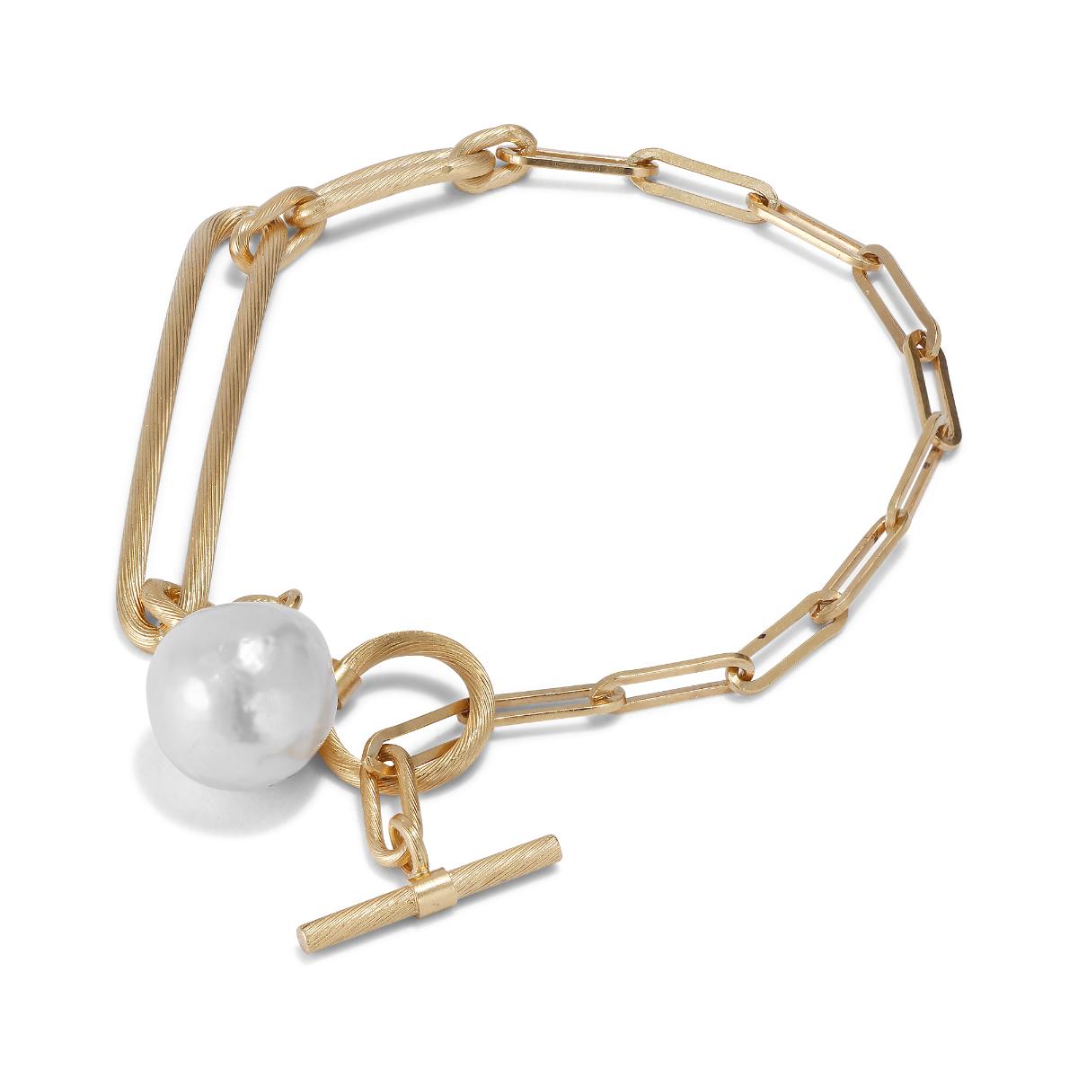 Jane Kønig Salon Pearl armbånd, guld, medium