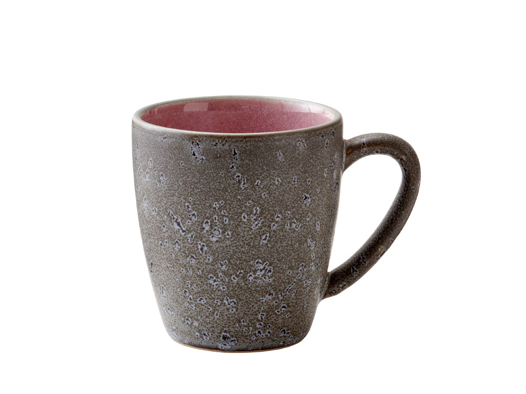 Bitz krus, 190 ml, grå/lyserød