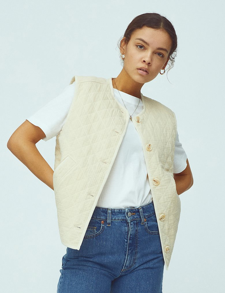 Global Funk Feeney vest, buttercream, x-small
