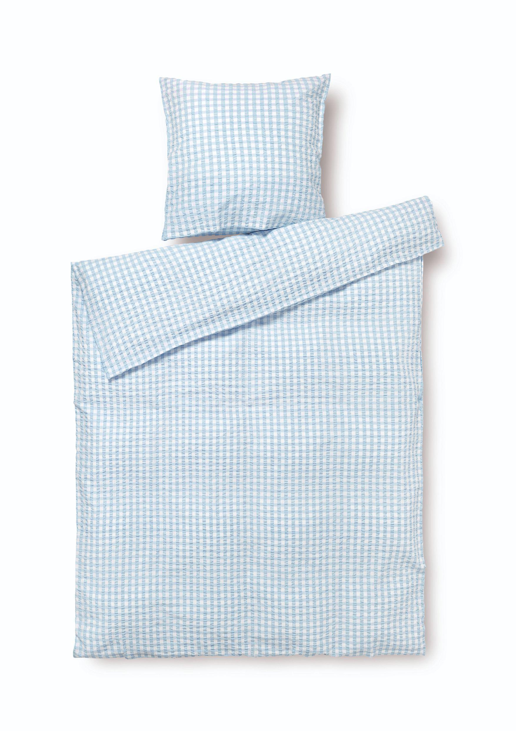 Juna Bæk&Bølge sengelinned, 140x200 cm, lysblå