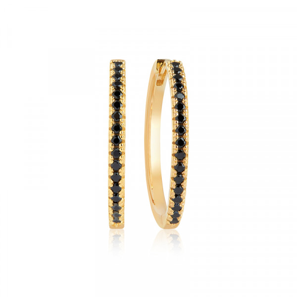 Sif Jakobs Jewellery Ellera X-Grande øreringe, guld/sort