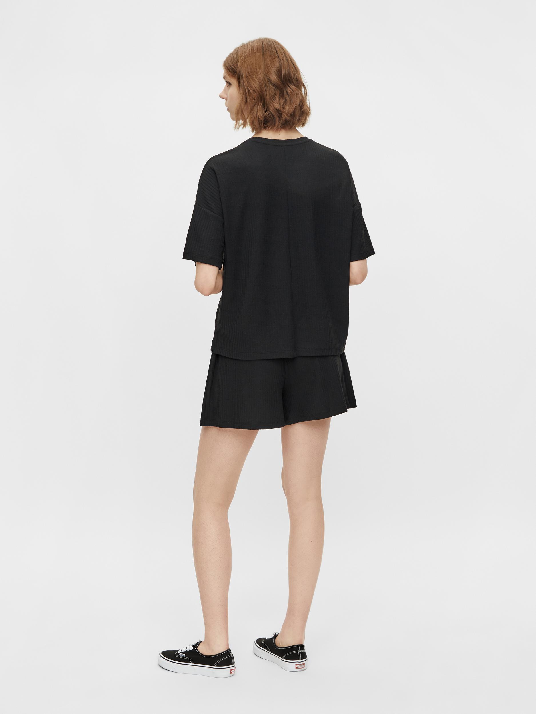 Pieces Ribbi t-shirt, black, medium