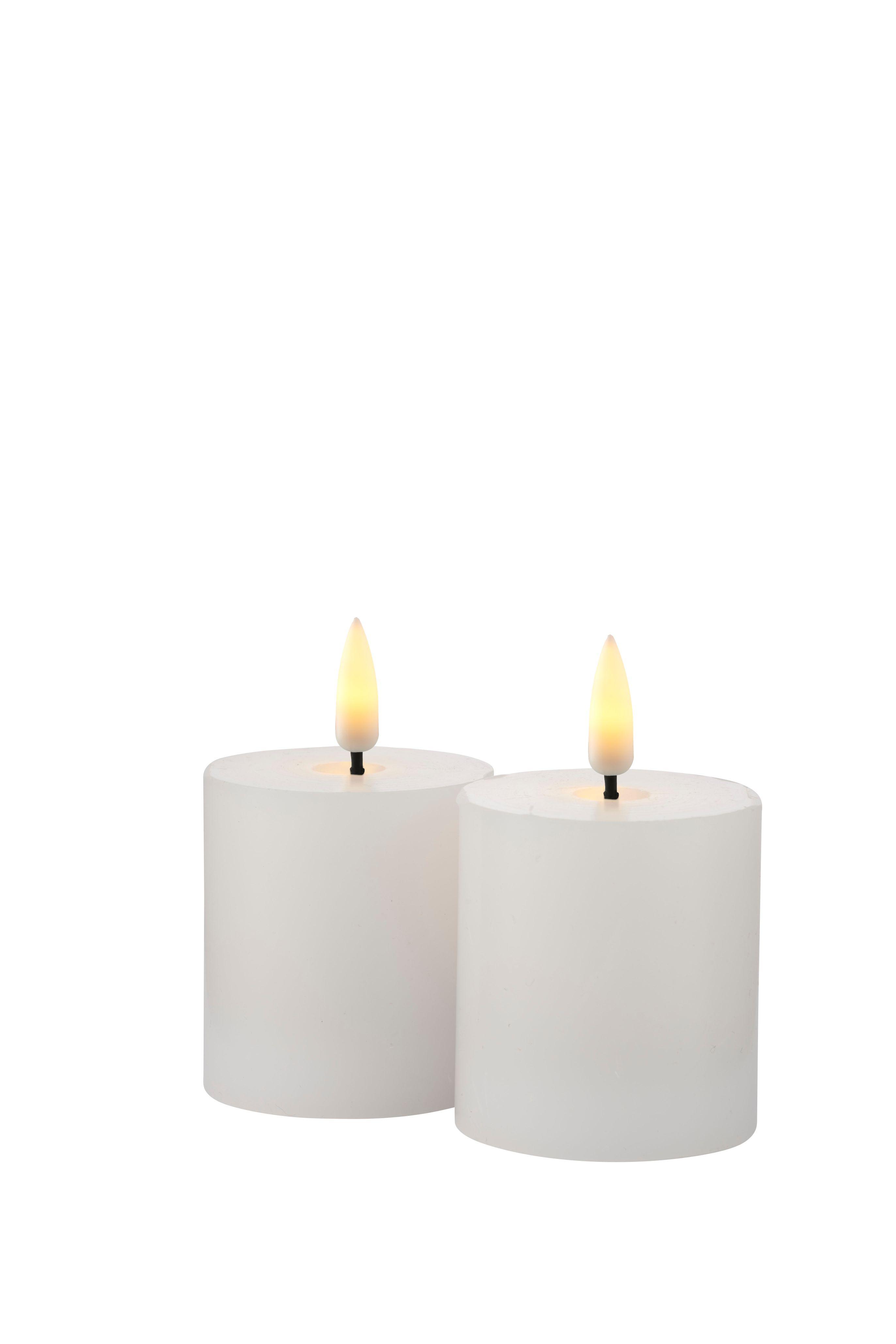 Sirius Mini Sille lys, hvid, 2 stk