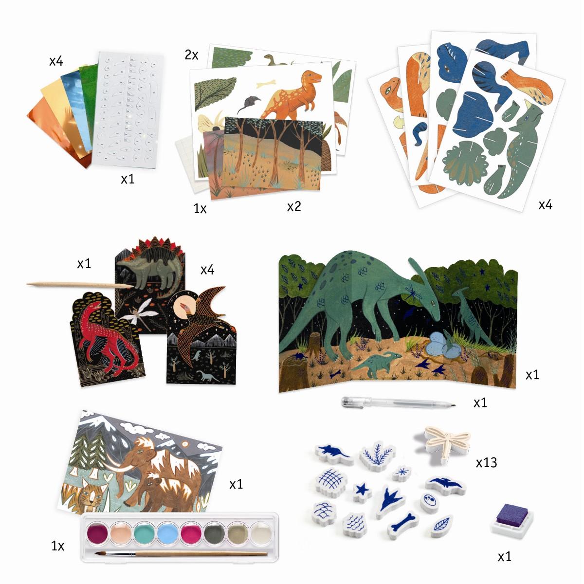 Djeco Kreativ aktivitetssæt, Dinosaurer