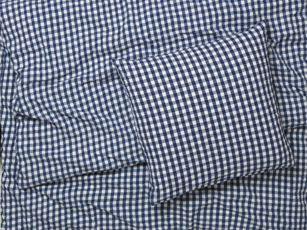 Juna Bæk&Bølge sengelinned, 140x200 cm, blå/hvid