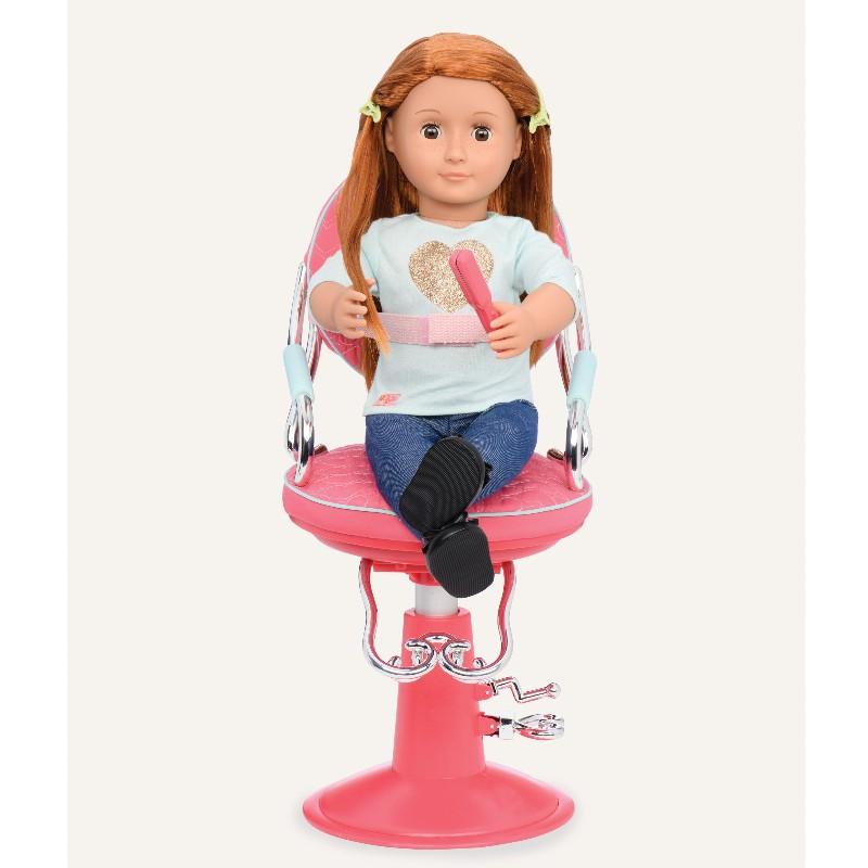 Our Generation frisørstol, pink hjerter