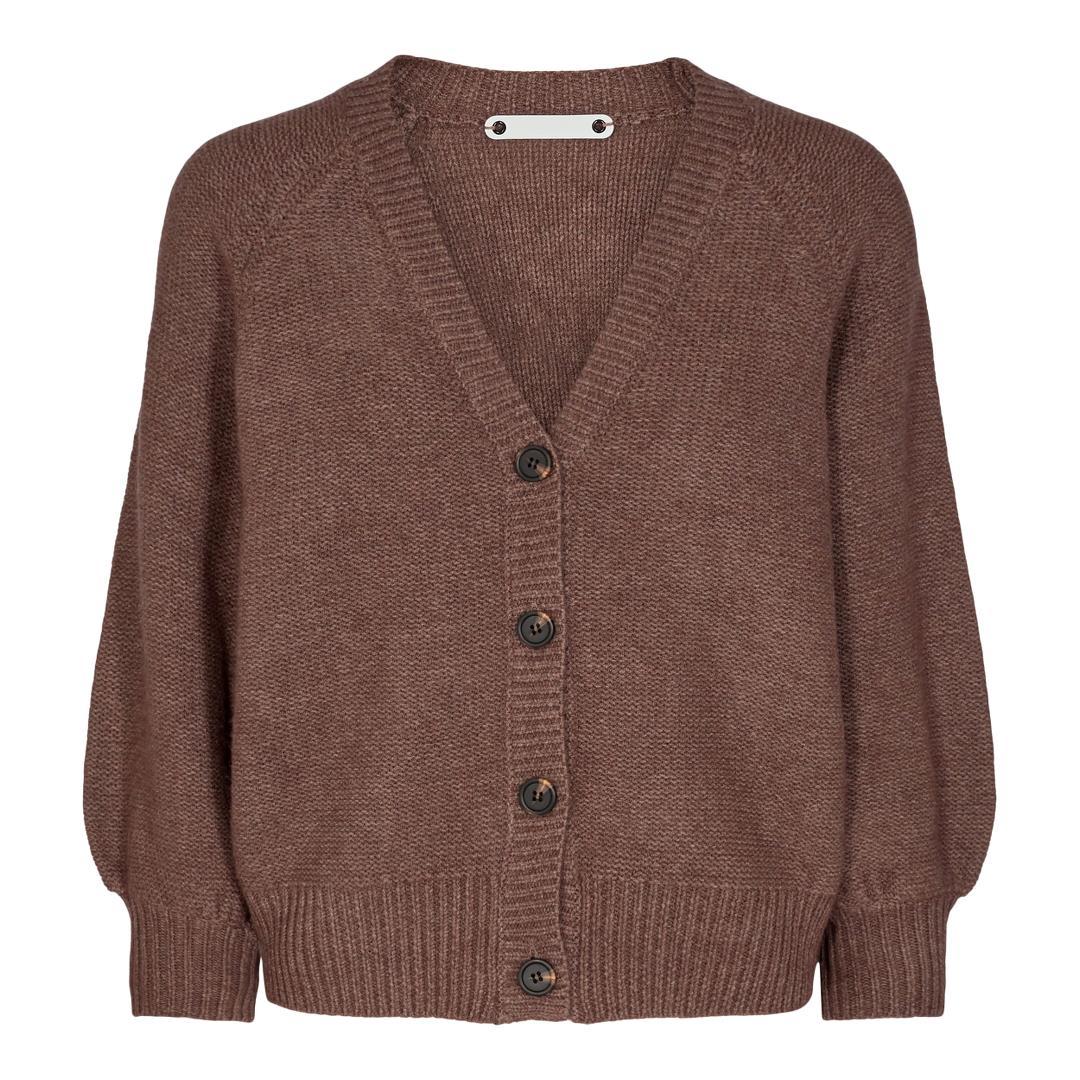 Co'Couture Ruby cardigan, chocolate, medium