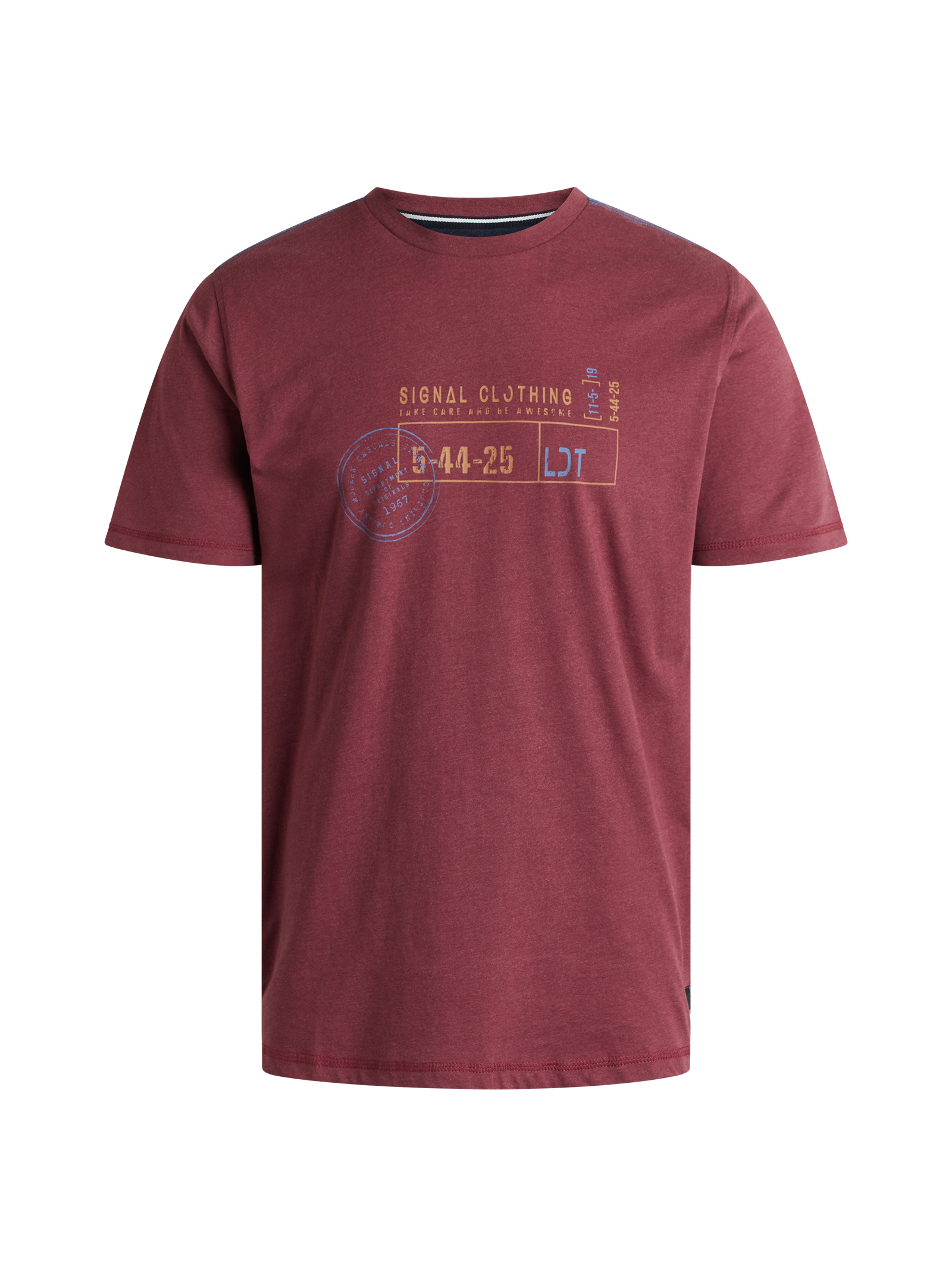 Signal Gavin Organic T-shirt, Port Royale Melange, M