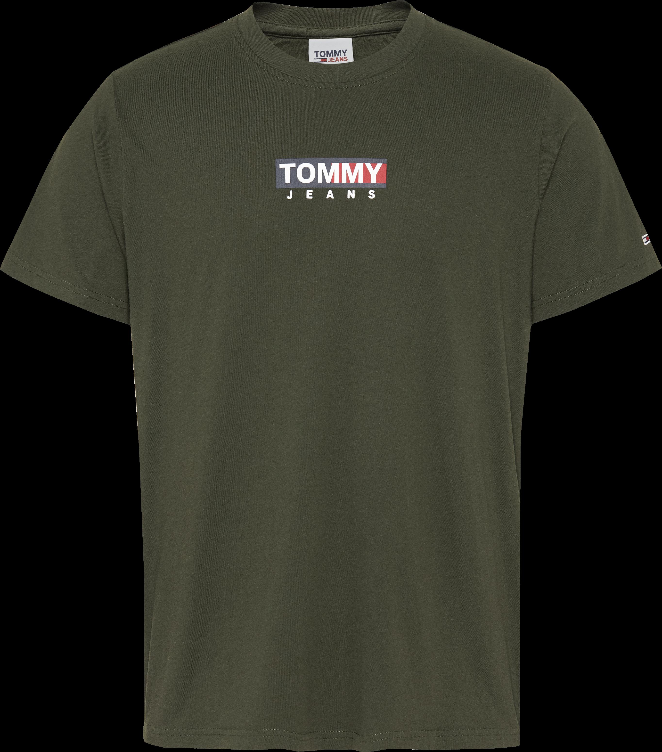 Hilfiger Denim Logo Print T-shirt, Dark Olive, L