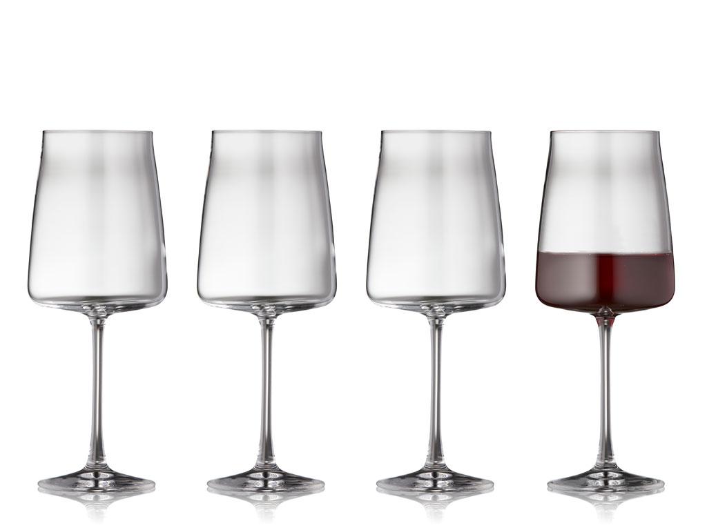 Lyngby-Glas Krystal Zero rødvinsglas, 540 ml, 4 stk