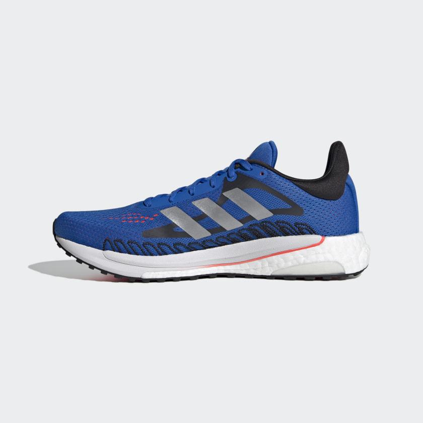Adidas Solar Glide sko, football blue/silver metallic/solar red, 46
