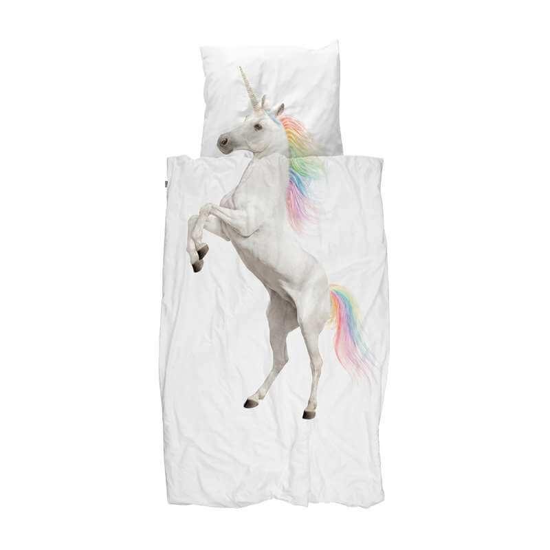 SNURK sengetøj, Enhjørning, 140x200 cm