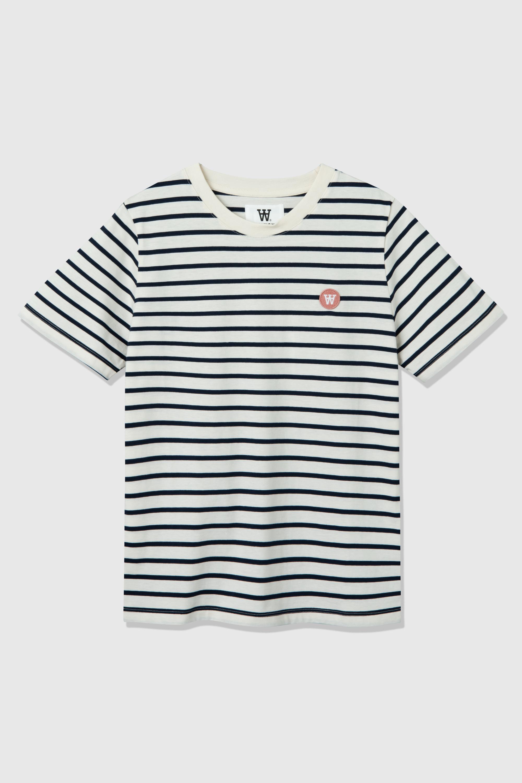 Wood Wood Mia t-shirt, off-white/navy, x-small
