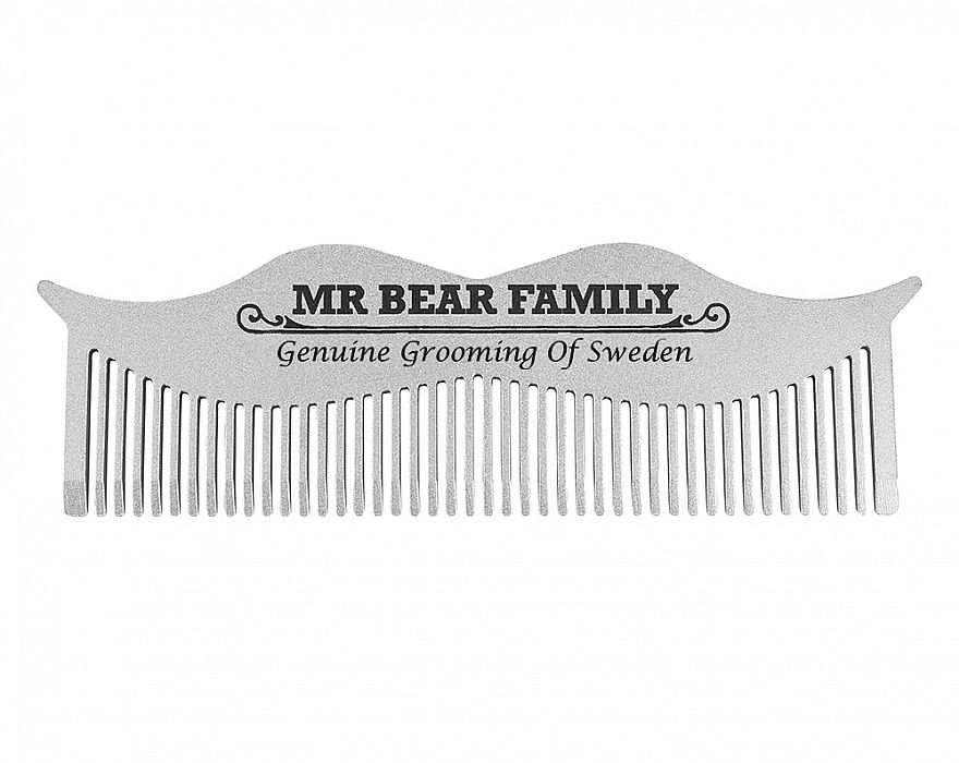Mr. Bear Moustache Steel Comb