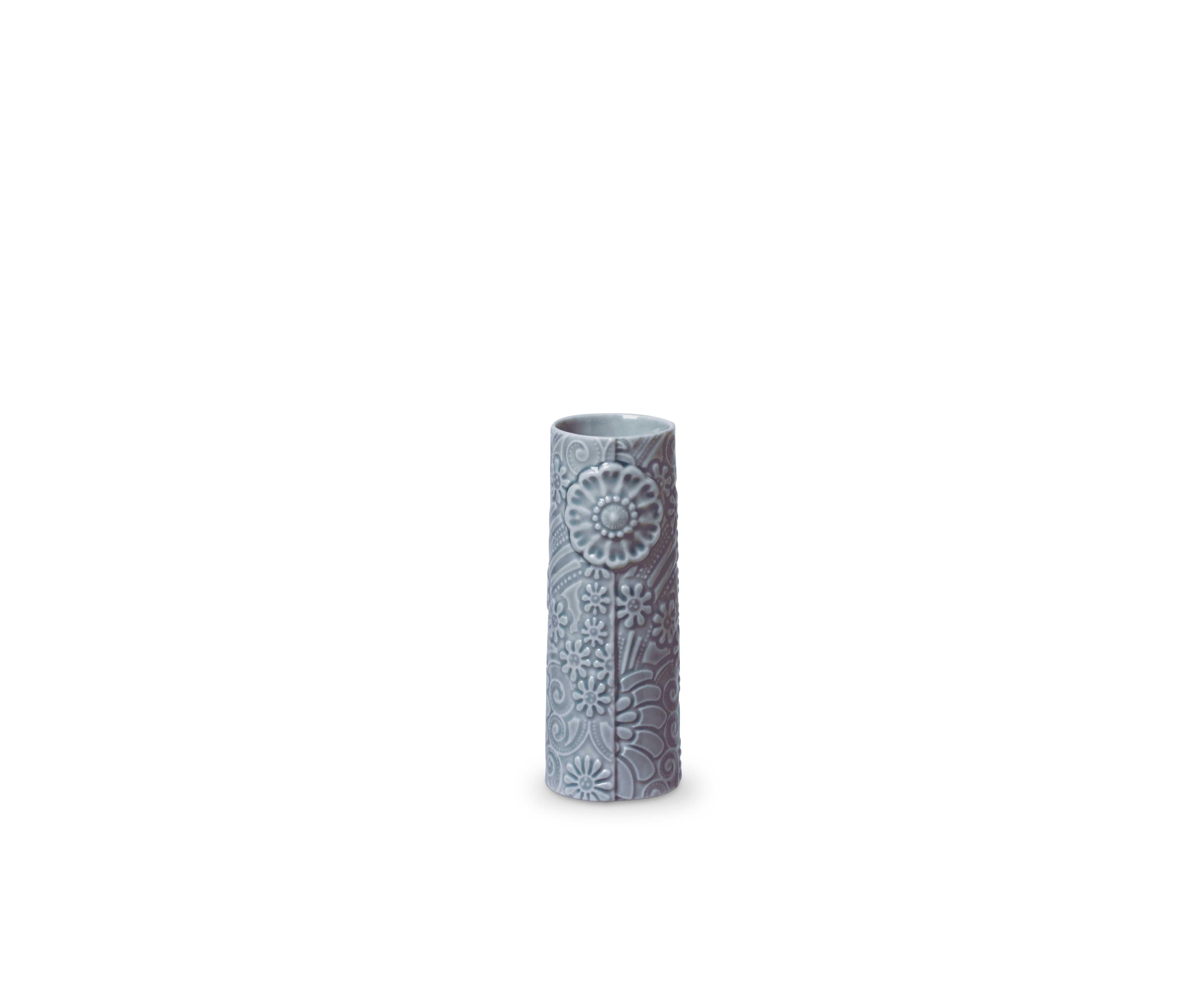 DOTTIR Pipanella Flower vase, micro, grå