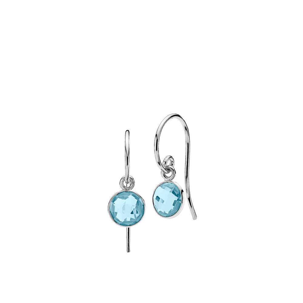 Izabel Camille Prima Donna øreringe, sølv/aquablå, small